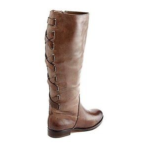 Arturo Chiang 7.5 Filica Distressed Leather Boots